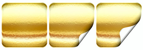 Set of golden sticker Stock Image