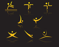 Set of golden symbols Royalty Free Illustration