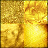 Set golden texture. Stock Photography