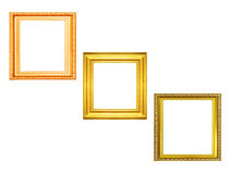 Set of golden vintage frame isolated on black background Royalty Free Stock Image