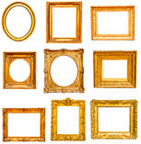 Set of golden vintage frame Royalty Free Stock Image