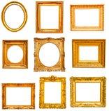 Set of golden vintage frame Royalty Free Stock Image