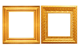 Set of golden vintage frame isolated Stock Photography