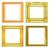 Set of golden vintage frame isolated on white background Royalty Free Stock Images