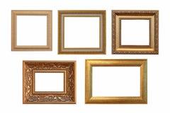 Set of golden vintage frame isolated on white background Royalty Free Stock Image