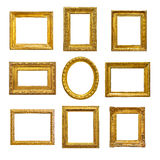 Set of golden vintage frame Royalty Free Stock Photography