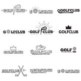 Set of golf club logos Stock Photo