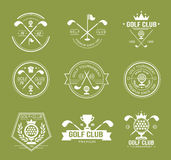 Set of golf club logos, labels and emblems Royalty Free Stock Photography