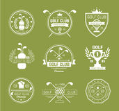 Set of golf club logos, labels and emblems Stock Images