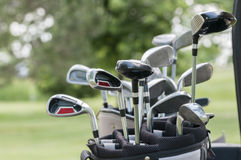 A set of golf clubs Stock Photos
