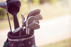 Set of golf clubs Stock Photos