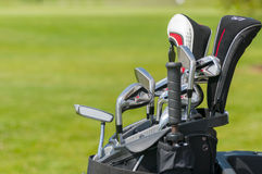 Set of golf clubs Stock Image