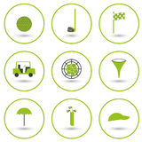 Set of golf icons Stock Photos