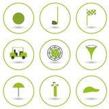 Set of golf icons Stock Photos