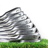 Set of golf irons Royalty Free Stock Images