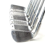 Set of golf irons. On white background Royalty Free Stock Images