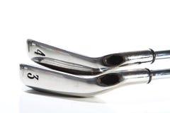 Set of golf irons Stock Photo
