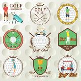 Set of golf labels, badges. And emblems Royalty Free Stock Image