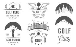 Set of Golf Logo, Labels and Emblems Royalty Free Stock Photos