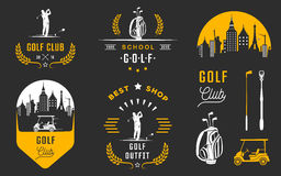 Set of Golf Logo, Labels and Emblems Stock Photos