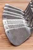 Set golfowi żelaza zdjęcia royalty free