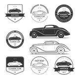 Set gorącego prącia samochodowe etykietki, emblematy, logowie ilustracji