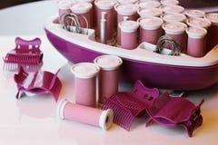 Set gorący curlers Obrazy Royalty Free