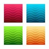 Set of gorizontal seamless halftone patterns stock illustration