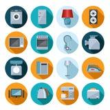 Set gospodarstw domowych urządzeń mieszkania ikony Zdjęcie Stock