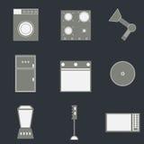 Set gospodarstwo domowe ikony royalty ilustracja
