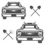 Set gospodarstwo rolne ciężarówka dla loga, emblematów i projekta, Obraz Stock