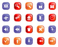 Set of gothic icons Royalty Free Stock Images