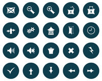 Set of gothic icons Royalty Free Stock Photo