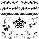 Set Gothic pattern Royalty Free Stock Photo