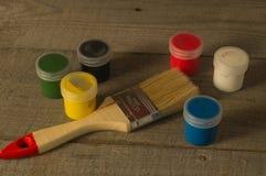 A set of gouache paints. Stock Photography