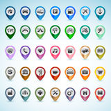 Set of GPS icons Royalty Free Stock Photography