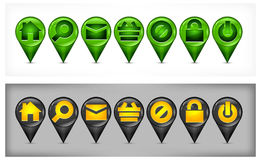 Set of GPS icons Royalty Free Stock Image