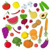 set grönsaker för frukt royaltyfri illustrationer