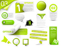 Set grüne vektorfortschrittsikonen Stockfotos