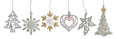 Set of graceful Christmas ornament Stock Photos