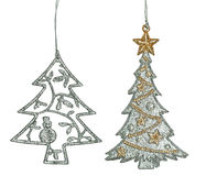 Set of Graceful Christmas ornament Royalty Free Stock Photography