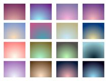 Set of gradient backgrounds. Soft color. Vector. Illustration royalty free illustration