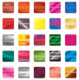 Set of gradient button icons for your design. Royalty Free Stock Photo