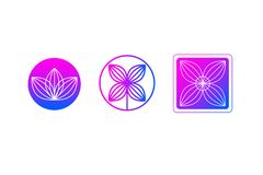 Set of gradient icons stock photos