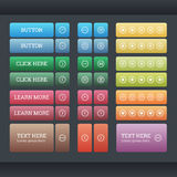 Set of the gradient web buttons Royalty Free Stock Photo