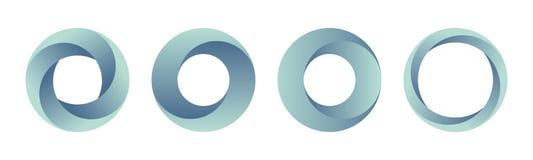 Set gradientowi logo szablony royalty ilustracja