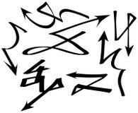 Set of graffiti arrows Stock Photography