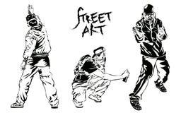 Set of graffiti artists. Collection street art elements. Vector illustration. Set of graffiti artists. Collection street art elements. Vector illustration Stock Photos