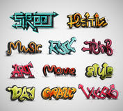 Set of graffiti Royalty Free Stock Images