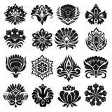 Set graficzni kwiaty Zdjęcie Stock